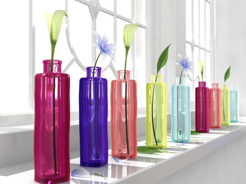 Design Ikea Vases 3d l scene ikea vases three light light